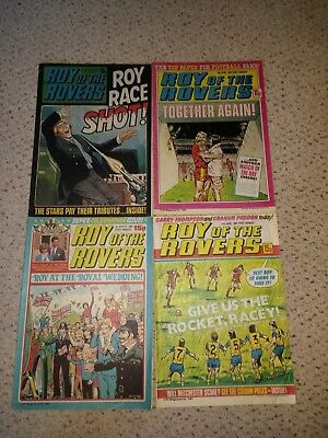 Roy of the Rovers Comics - 4 comics from 1981