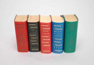 5 Vintage Reed NZ Lilliput Books Maori Dictionary Place Names Gospels Proverbs
