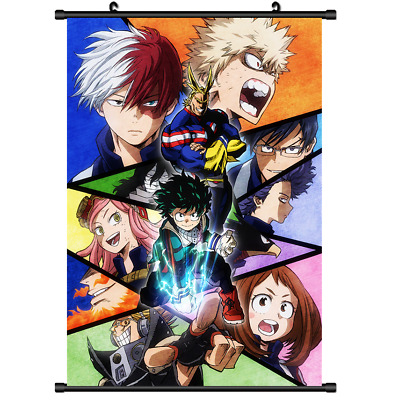 Hot Anime Boku no hero academia My Hero Academia Wall Scroll Poster cosp 40*60cm