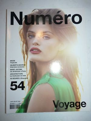 Magazine mode fashion NUMERO french #54 juin juillet 2004 Isabelli Fontana
