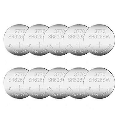 10 Pack CELEWELL SR626SW 377 AG4 LR626 Watch Battery with 3 Years Warranty 1.55V