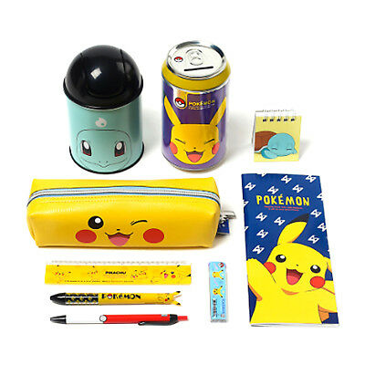 Pokemon Stationery Set 9pc Writing Letter Supplies Pencil Case Bag Sharp Gift