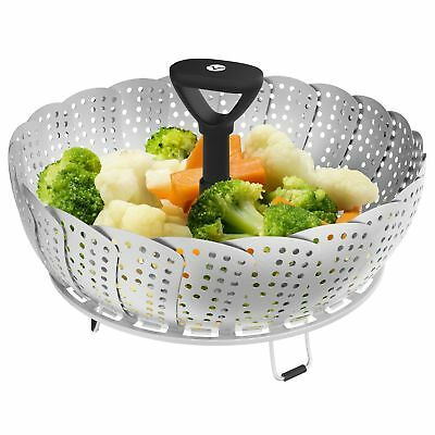 Vremi Collapsible Vegetable Steamer Basket for Large and Small Pan - 100%