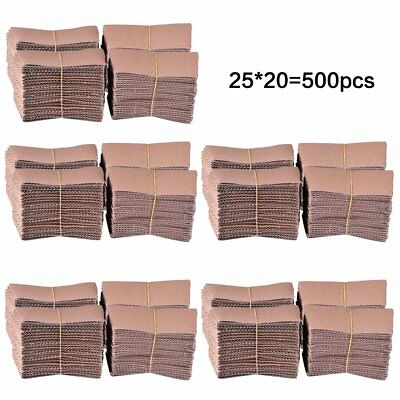 Luckypack 500 Piece Cup Sleeve Corrugated Jacket Cafe Drink Disposable Paper