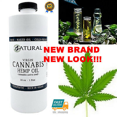 Hemp Oil-Cannabis Sativa Oil 100% Pure - No Fillers or Additives - 16 Ounce NEW