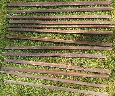 Vintage Wooden Stair Rods Mahogany? 28 1/2'
