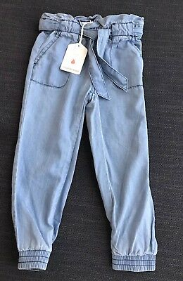 Country Road Girls Chambray Pants Size 4 Years RRP$59.95