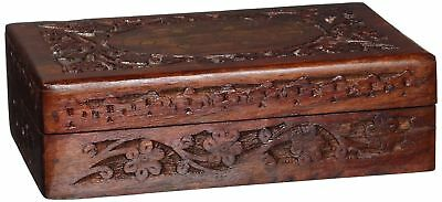 Handcrafted Wooden Jewelry/Keepsake Box with Lid - Small Wood Storage Chest