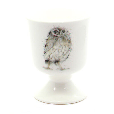 Owl Egg Cup - Country Kitchen Easter Gift - Fine Bone China - Made in England