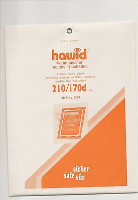 HAWID MOUNTS 210 x 170 mm clear pack of 5