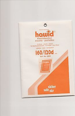 HAWID MOUNTS 160 x 120 mm clear pack of 10