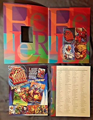 1995 Flair *MARVEL ANNUAL* Dealer FOLDER ,Sell Sheet & 4-Card Promo Sheet *RARE*