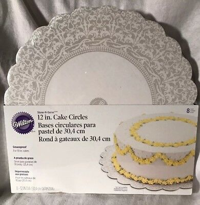 12 inch Round White Cake Ruffle Board from Wilton  #970