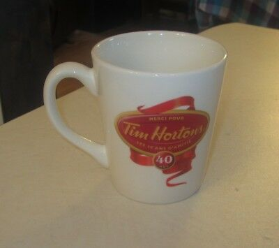 TIM Hortons Coffee Mug Cup, 40 years of Friendship Limited edition 2004