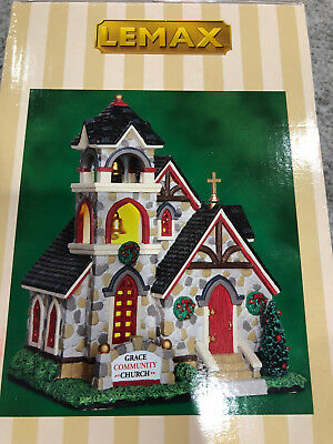 Lemax Village - Grace Community Church - Illuminated - Brand New in Box!