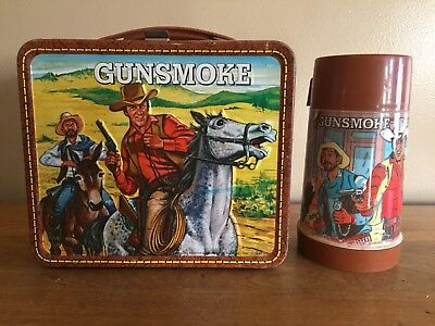 GUNSMOKE LUNCH BOX Vintage 1972 with thermos