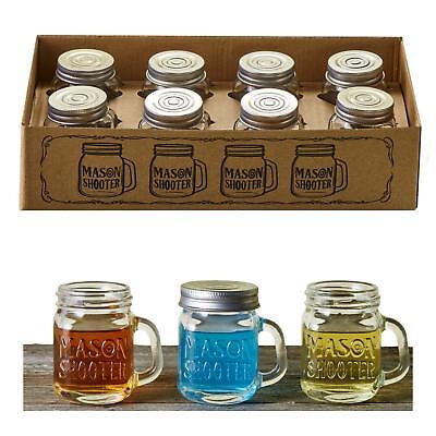 Hayley Cherie - Mason Jar Shot Glasses with Lids (Set of 8) - Mini Mason Shooter
