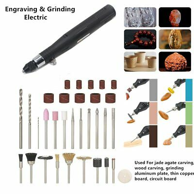30W Mini Handheld Drill Electric Grinder Rotary Tools Kit for Grinding Polishing