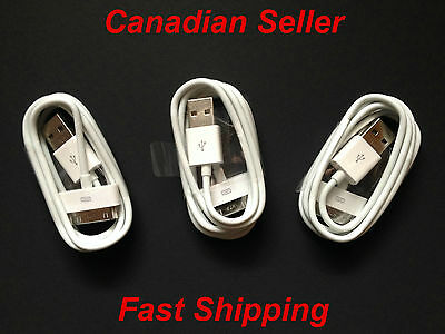 3x1M USB Charging/Data Sync Charger Cable/Cord Apple iPad 2 all 30 pin devices