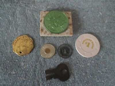 small lot of tokens/chips key and more- L@@K-