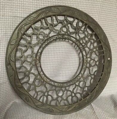 Vintage Cast Iron Ornate Round Victorian Stove Pipe Register Vent Ceiling Mount