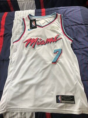 b866f6e64ae Nike 2017 NBA Miami Heat Goran Dragic 7 Swingman City Edition Miami Vice  Jersey