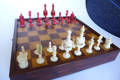 Antique*Bone*Chess*Set*Antike*Schachfiguren*aus Bein*ca.1870-1890*ajedrez*Lund?
