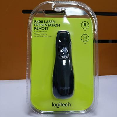 New Professional Wireless R400 Receiver PPT Presenter Red Laser Pointer Logitech