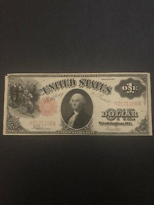 Currency Note 1917 1 Dollar Bill Red Seal Paper Money United States America
