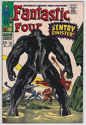 Fantastic Four #64 F-VF 7.0 The Sentry Sinister Jack Kirby Art!