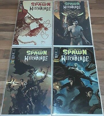 Medieval Spawn and Witchblade #1 to #4 Full Set New NM