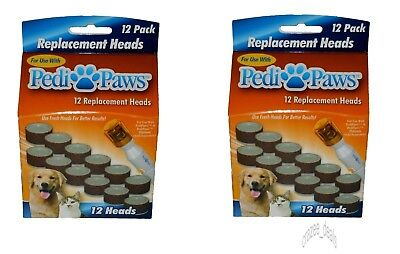 24 Pc Pedi Paws Nail File Trimmer Replacement Heads for Dogs and Cats
