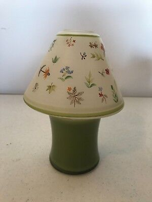 Longaberger Glass Candle Shade or Topper RARE FIND Botanical Fields