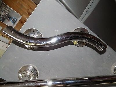 curved Hand rail support chrome