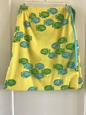 Vested Gentress Skirt Sz Small Fish Pattern