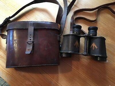 Vintage Ross Of London WW1 British Military BINOCULARS Army Issue Stereo Prism