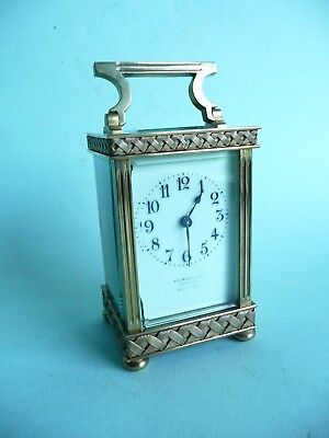 Antique Brass 8 Day Carriage Clock..............................ref.1327