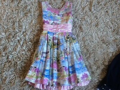 Girls Monsoon Print Dress age 6 years...excellent condition