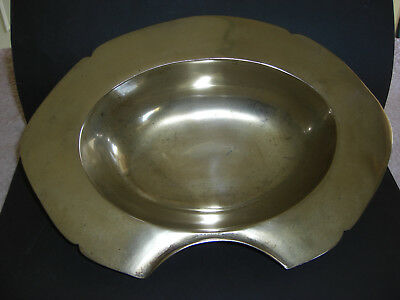 Rare Early 18Th Century Brass Bleeding/shaving Bowl. Used By Barber Surgeons.