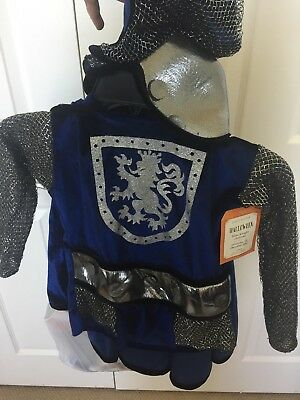 New Pottery Barn Kids Knight Halloween Costume 4-5 !  Hood Tunic Cape Fast Ship!