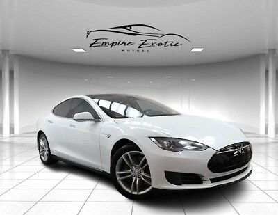 """2013 Model S S 1 Owner NAV PANO 19"""" Dealer Maintained 45K 2013 Tesla Model S, White with 45,232 Miles available now!"""