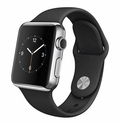 Apple Watch 1st Gen 42mm Stainless Steel, SS Space Black - Black Sport Band