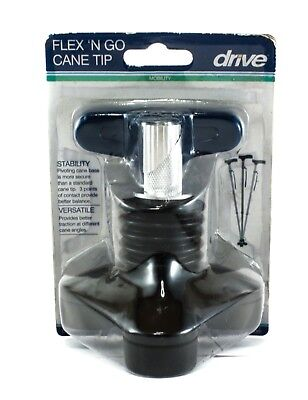 Drive Medical Flex 'n Go Cane Tip, Black - BRAND NEW!