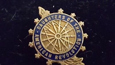 Vintage DAR Chapter Pendant Gold Fill Pin Badge