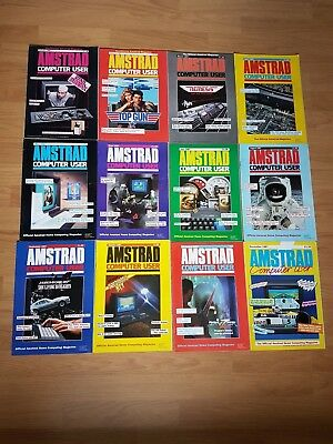 Amstrad Computer User  ACU Magazine 1987 complete year 12 issues VGC
