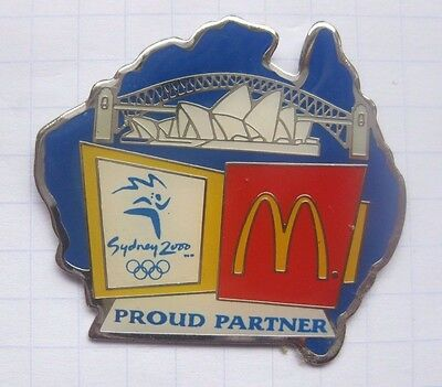 M / SYDNEY 2000 / OLYMPIA / PROUD PARTNER ........Mc DONALD`s-Pin (148c)