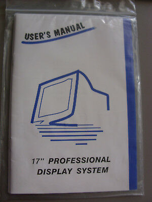 "User´s Manual - 17"" Professional Display SA- PA- PX-765"