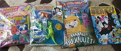 4 kids/young mags. Adventure time, Andys amazing adventures animal cuties