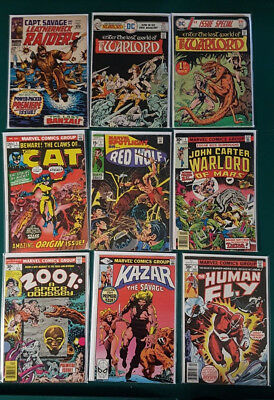 Mixed Lot of 9 # 1 editions marvel dc 60s 70s cat warlord spotlight fly 2001 key