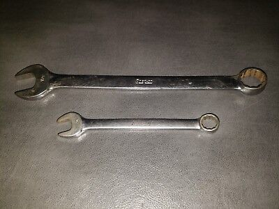 """Snap On Set Of 2 Wrenches 11/16"""" Snap On Oex-22 Snap On 7/16"""" Oex-14"""